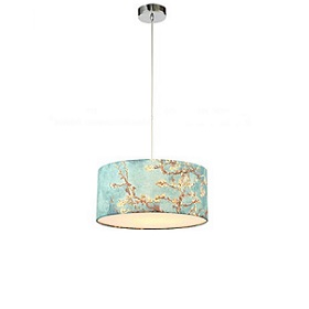 Colorful pendant lamp is handpainted