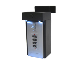 Digital key lock box with LEDs