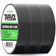 Black Electrical Tape (GIANT 3 PACK) Each Roll is 3/4