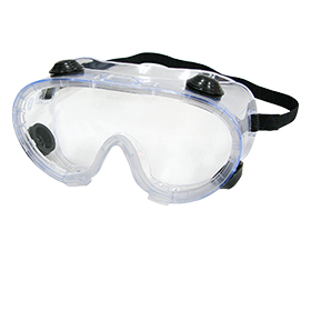 Anti-fog, UV-protective safety goggles