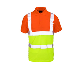 Safety shirt has 5cm-wide reflective tape