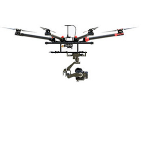 UAV equipped with thermal camera
