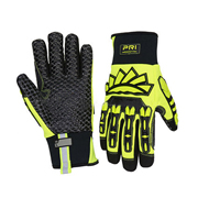 Safety gloves with cut-resistant Aramid palm