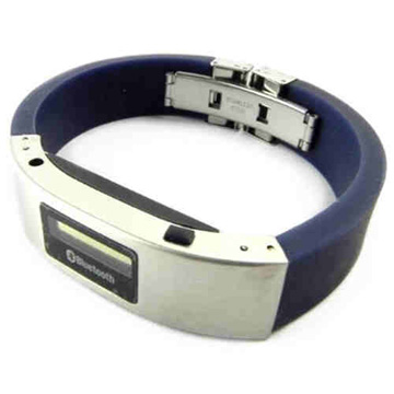 Smart bracelet features LCD screen, caller ID function