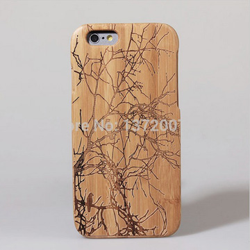 Wooden cases for iPhone uses bamboo material