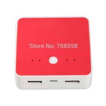 Power bank for mobile phone has dual USB output