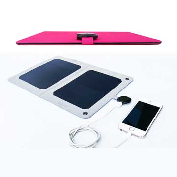 World's slimmest solar charger for mobile devices