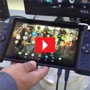 Unique gaming tablet with detachable controllers [ VIDEO]