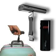 Power bank doubles as luggage scale