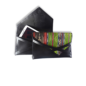 Mixed leather and abaca case for iPad mini