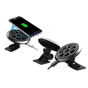 Wireless charging car mount turns 360 degrees