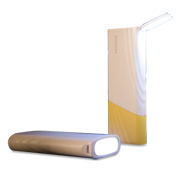 Flashlight power bank acts as desk lamp