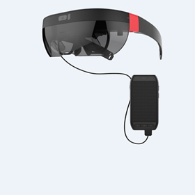AR glasses with dual OLED display