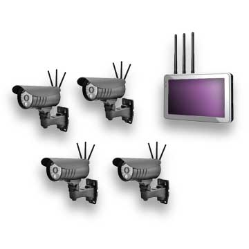 HD wireless video surveillance system supports four simultaneous streams