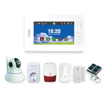 GSM home security alarm system supports 116 wireless sensors