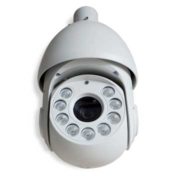 High-speed dome camera zooms up to 18x