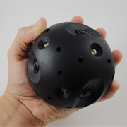 Tactical camera sphere peeks into dangerous rooms safely
