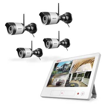 Wireless CCTV kit supports remote viewing