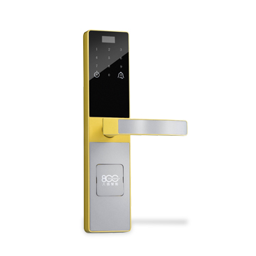 Smart door lock opens by card, password, key