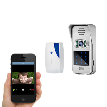 Wi-Fi video doorbell camera unlocks door