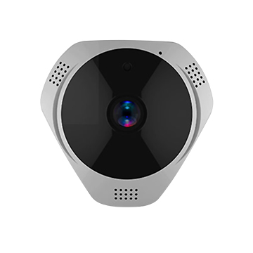 Panoramic camera has motion detection alarm