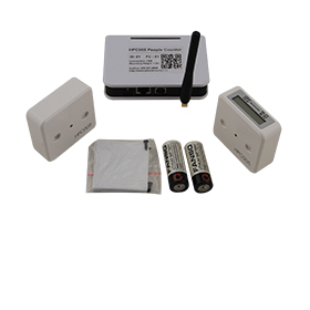 Wireless IR people counter for retail stores