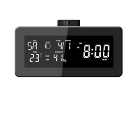 Weather clock is also FM radio, HD camera