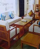 Japan Settee, Burmese Teak Wood�Model Number:Hi Tech-Japan settee�Country of Origin:Myanmar