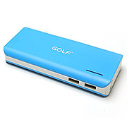 10,000mAh Li-ion Power Bank with 2.1A and 1A dual USB Output (Available in 4 colors)