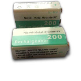 NiMH battery has 200mAh rated capacity
