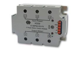 Motor control module has 530VAC load voltage