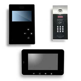 Video door phone works with electronic locks