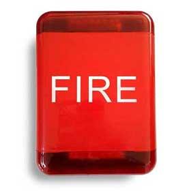 Fire siren with red strobe light