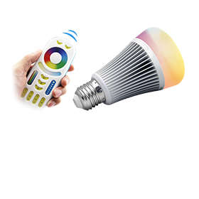 Wi-Fi LED bulb controllable up to 30m