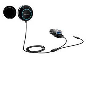 Handsfree kit includes mini Bluetooth speaker