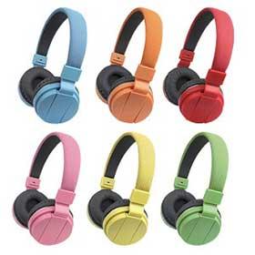 Leather DJ headphones